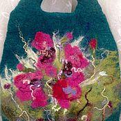 Сумки и аксессуары ручной работы. Ярмарка Мастеров - ручная работа Валяная сумка Цикламены. Handmade.