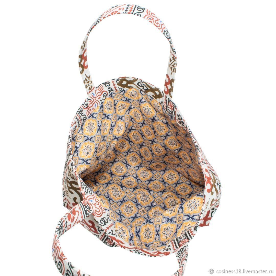 Льняная сумка. Восточный орнамент