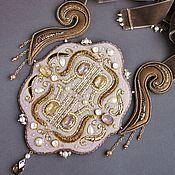Украшения handmade. Livemaster - original item Louis XIV Swarovski necklace, velvet, beads, pearls, beat. Handmade.