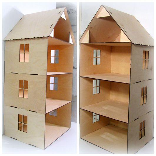 Кукольный дом ручной работы. Ярмарка Мастеров - ручная работа. Купить Дом для кукол. Огромный кукольный домик. Деревянный. Handmade.