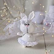 Куклы и игрушки handmade. Livemaster - original item Bunny in a white lace skirt. Handmade.