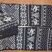 Аксессуары ручной работы. Ярмарка Мастеров - ручная работа Шапка и шарф с веселыми оленями. Handmade.