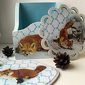 """Для дома и интерьера ручной работы. Ярмарка Мастеров - ручная работа Кухонный набор """"Хитрая лисица"""". Handmade."""