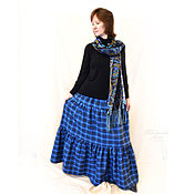 Одежда handmade. Livemaster - original item Skirt warm, long
