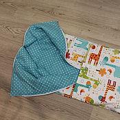 Комплекты одежды ручной работы. Ярмарка Мастеров - ручная работа конверт на выписку Бирюзовые жирафы. Handmade.