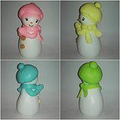 """Косметика ручной работы. Ярмарка Мастеров - ручная работа мыло """"девочка  снеговик"""". Handmade."""