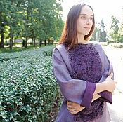 """Одежда ручной работы. Ярмарка Мастеров - ручная работа Валяный свитер """"Purple haze"""". Handmade."""