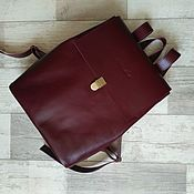 Сумки и аксессуары handmade. Livemaster - original item Backpack leather Marsala. A4. Handmade.
