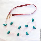 Украшения handmade. Livemaster - original item necklace, with pendant, long beads