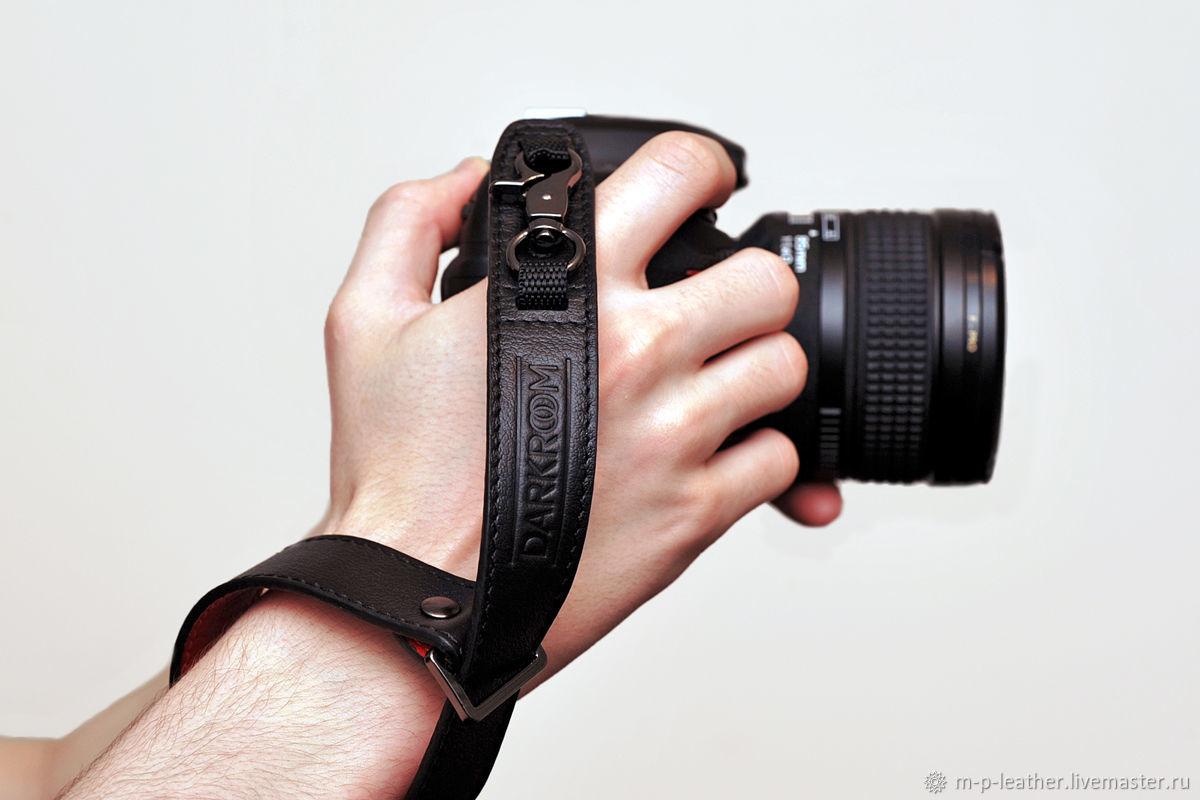 Двухслойный прошитый ремень для фотоаппарата DARKROOM натуральная кожа, Ремни, Санкт-Петербург,  Фото №1