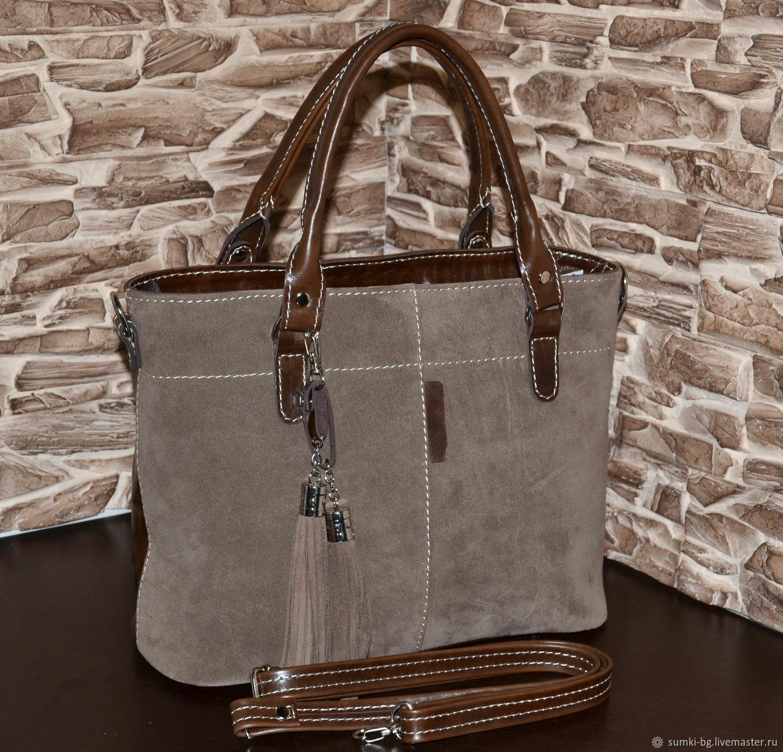 Model 1032 Bag women's leather tote Bag made of genuine leather, Classic Bag, Bogorodsk,  Фото №1