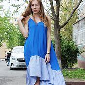 Одежда handmade. Livemaster - original item Sundress with length difference