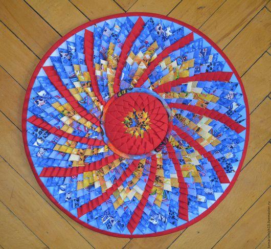 Текстиль, ковры ручной работы. Ярмарка Мастеров - ручная работа. Купить Солнце в подарок. Handmade. Комбинированный, коврик для дома, кругляши