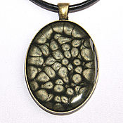 Украшения handmade. Livemaster - original item Pendant with painted gray-black. Handmade.