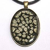 Украшения handmade. Livemaster - original item Pendant with painted gray-black. Handmade.