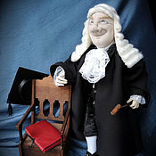 """Куклы и игрушки ручной работы. Ярмарка Мастеров - ручная работа """"Судья""""- авторская текстильная кукла. Handmade."""