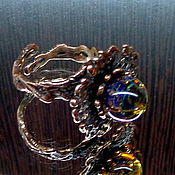 Украшения ручной работы. Ярмарка Мастеров - ручная работа Кольцо Космический цветок лэмпворк. Handmade.