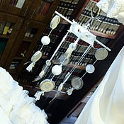 """Для дома и интерьера ручной работы. Ярмарка Мастеров - ручная работа мобиль """"Чистый, белый"""". Handmade."""