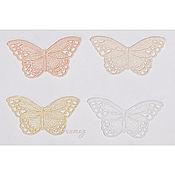 Материалы для творчества ручной работы. Ярмарка Мастеров - ручная работа вышивка аппликация нашивная Цветные бабочки кружево ажур. Handmade.