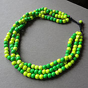 Украшения handmade. Livemaster - original item Bright summer - beads of wood. Handmade.