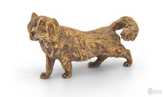Статуэтки ручной работы. Ярмарка Мастеров - ручная работа. Купить Сибирская кошка. Handmade. Кошка, кошечка, статуэтки из металла, литьё