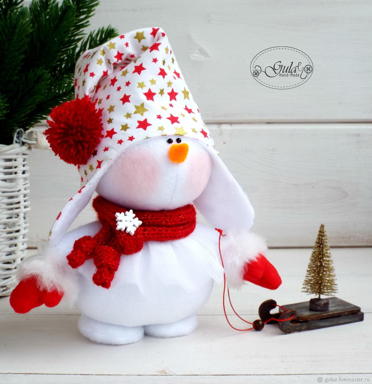 Снеговик из меха своими руками фото 916
