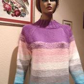Одежда ручной работы. Ярмарка Мастеров - ручная работа Свитер с переходом цвета вязаный. Handmade.