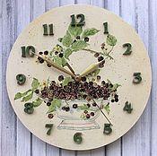 """Для дома и интерьера ручной работы. Ярмарка Мастеров - ручная работа Часы """"Ежевика"""". Handmade."""
