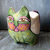 Посуда handmade. Livemaster - original item Small cat mug with legs. Handmade.