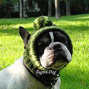 Одежда для питомцев ручной работы. Ярмарка Мастеров - ручная работа Шапки для собак ( французского бульдога,мопса). Handmade.