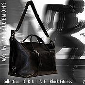 Классическая сумка ручной работы. Ярмарка Мастеров - ручная работа Сумка Cruise Black Fitness. Handmade.