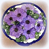 Косметика ручной работы. Ярмарка Мастеров - ручная работа Полночные анемоны 7 или 9 цветов букет мыла в подарок учителю. Handmade.