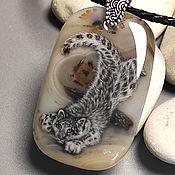 Украшения handmade. Livemaster - original item Gift idea. Author`s decoration-Snow leopard (Snow Leopard) - damon. Handmade.