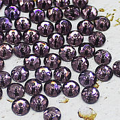 Материалы для творчества handmade. Livemaster - original item Crystals: Amethyst 5h5 mm rhinestones-sequins sewn on 10 PCs. Handmade.