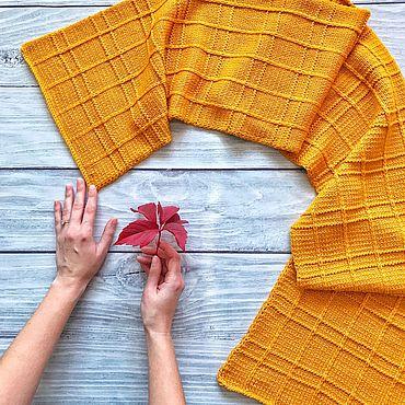 Аксессуары ручной работы. Ярмарка Мастеров - ручная работа Вязаный шарф, теплый шарф, женский шарф. Handmade.