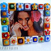 Сувениры и подарки handmade. Livemaster - original item Picture frames, fusing glass. Handmade.