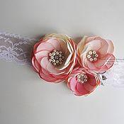 Свадебный салон handmade. Livemaster - original item Belt for wedding dress. Handmade.