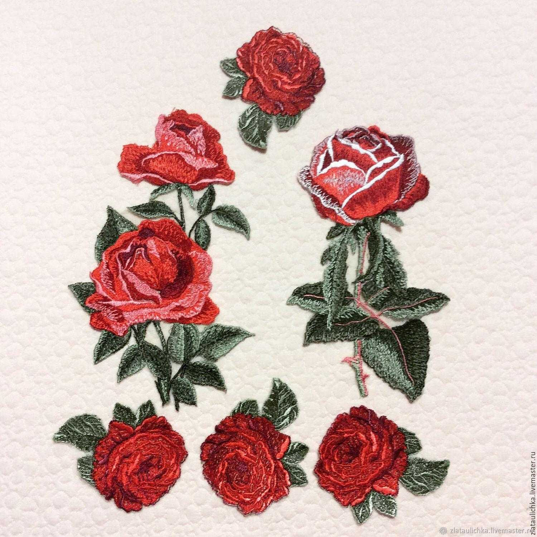 Вышивки - аппликации Розы в ассортименте, Аппликации, Москва,  Фото №1