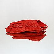 Аксессуары handmade. Livemaster - original item Gloves Python ELARA. Handmade.