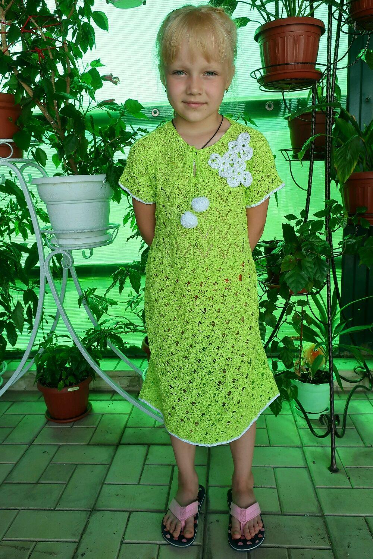 Платье из хлопка Весна на 9-10 лет, Платье, Лебедянь,  Фото №1