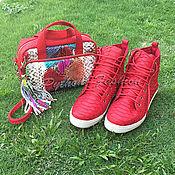 Обувь ручной работы handmade. Livemaster - original item Summer set from Python. Shoes and handbag. Handmade.