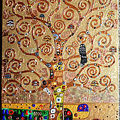 Картины и панно handmade. Livemaster - original item Relief painting with gold petal The Tree of Life. Gustav Klimt. Handmade.
