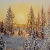 Картины и панно ручной работы. Ярмарка Мастеров - ручная работа Картина маслом,пейзаж,Зимний сон. Handmade.