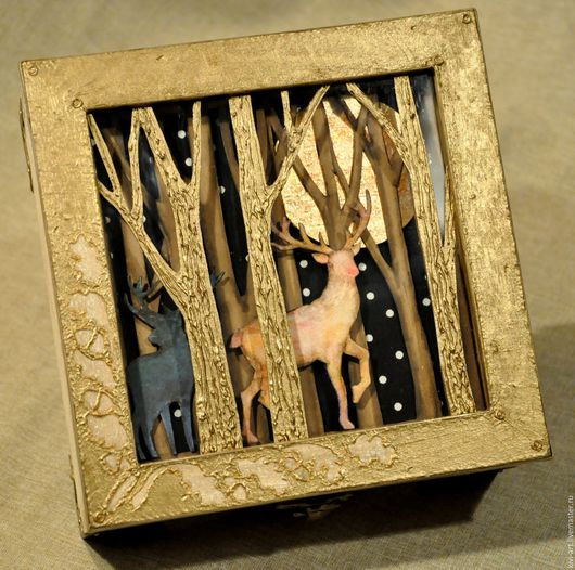 Шкатулка  `Волшебный лес` Кисель Вероника