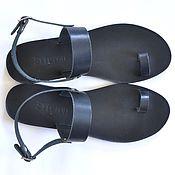 Обувь ручной работы. Ярмарка Мастеров - ручная работа Кожаные сандалии с пальчиком и ремешком. Handmade.