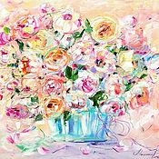 Картины и панно handmade. Livemaster - original item Oil painting on canvas with stretcher 60/50. Summer kiss.. Handmade.