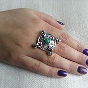 """Украшения ручной работы. Ярмарка Мастеров - ручная работа кольцо """" Назира"""" серебро 925 малахит. Handmade."""