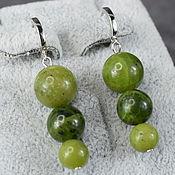 Украшения handmade. Livemaster - original item Earrings made of natural Baikal jade. Handmade.