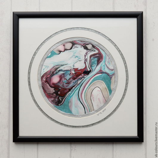 Абстракция ручной работы. Ярмарка Мастеров - ручная работа. Купить живопись на воде 8. Handmade. Картина, картина в подарок