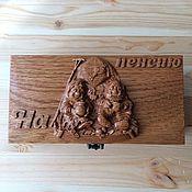 """Шкатулки ручной работы. Ярмарка Мастеров - ручная работа Купюрница из дерева """"На пенсию"""". Handmade."""